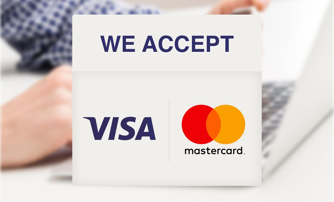 We accept online payments - Visa/Mastercard